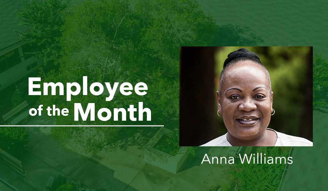 Anna Williams Employee of the Month January Woodland Ridge
