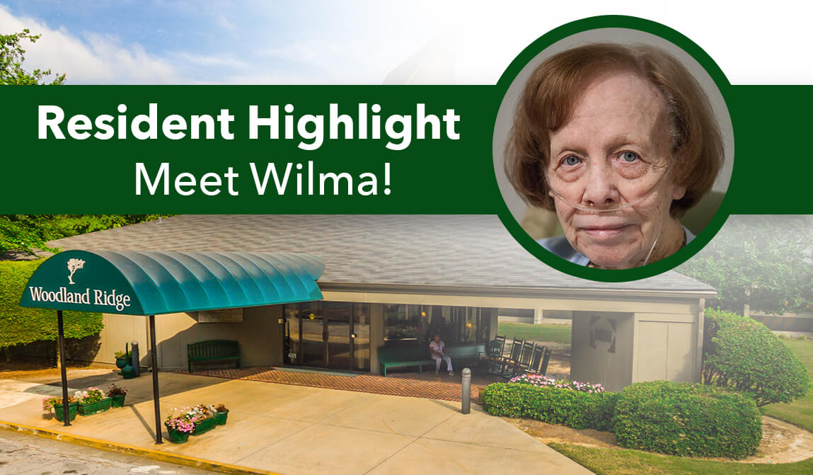 Wilma Woodland Ridge Resident Highlight of the Month January
