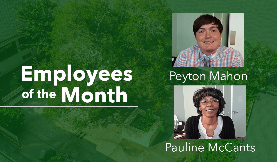 Employees of the Month_Peyton and Pauline