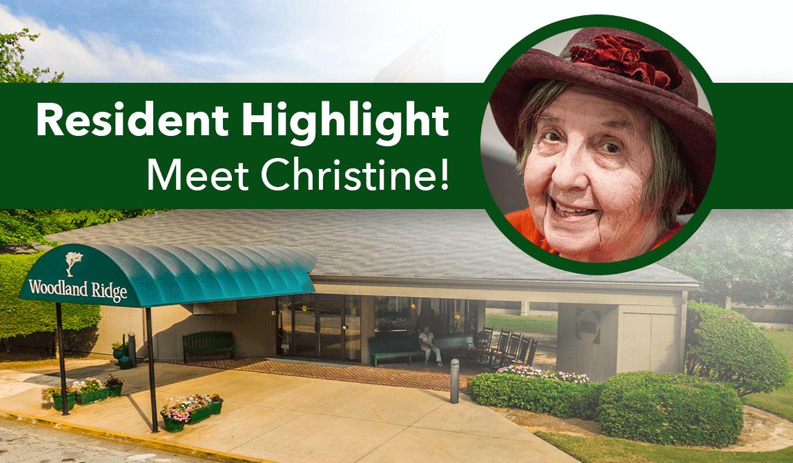 Woodland Ridge Resident Highlight Christine