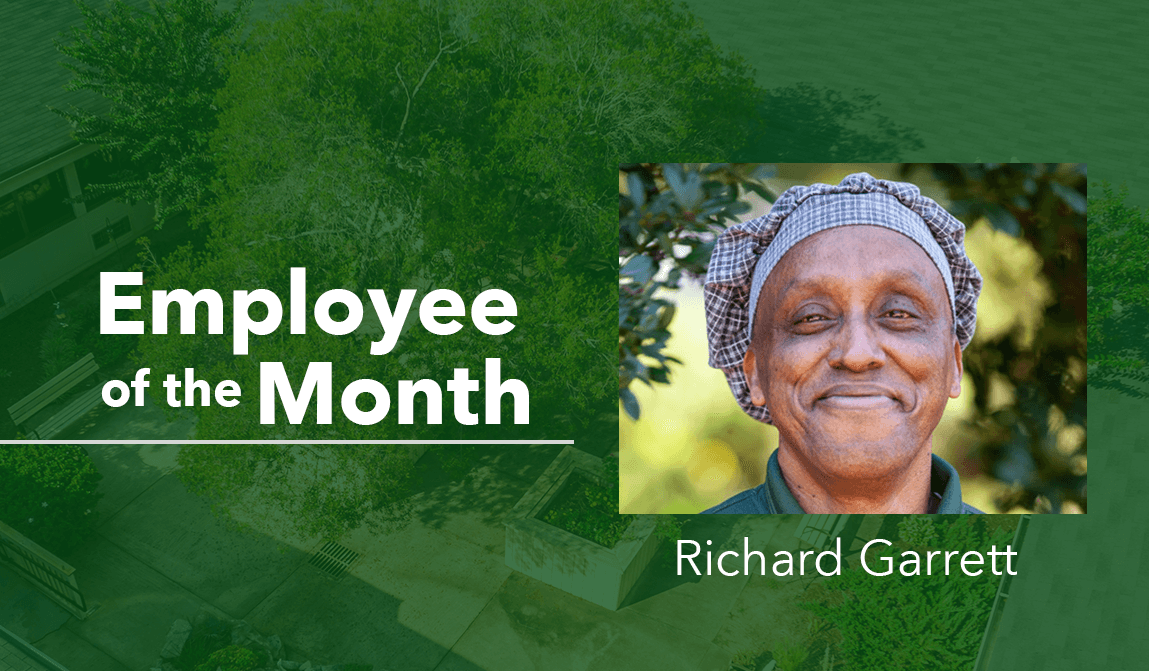 Woodland Ridge Employee of the Month Richard